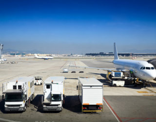 trucks in airport